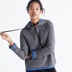 Madewell Tone Grey Hoodie Cropped Sweatshirt